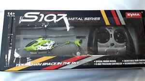 Gyroscopes S107 Metal 3 Channel Mini Helicopter Remote Control RC Indoor design