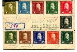 Austro-Hungarian Military Post 1917 Regd cover 11 different values Danilovgra