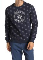 ORIGINAL PENGUIN Stamped Logo Pullover Sweater w/ Banded Hem, M, L, XL - ($89)