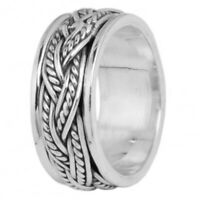 Twisted Band 925 Sterling Silver Meditation Spinner Ring Spinning Band All Size