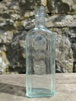 Collectable Vintage Green Glass Bottle - Famel Brand Syrup