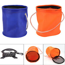 Portable Foldable Round Shrink EVA Water Bucket Box for Outdoor Fishing Tackle