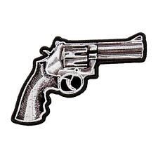 Assassin Ring Gun outlaw anarchy pistol 5 inch iron on MC BIKER PATCH
