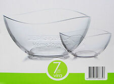 VIRA 7pc Set of Glass Bowls Dessert Ice Cream Sundae Fruit Trifle Punch Gift