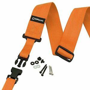 NEW DiMarzio DD2200OR 2 Inch Nylon ClipLock Guitar Strap Quick Release - ORANGE