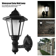 Retro Wall Mounted Solar Powered LED Outdoor Landscape Yard Lights Lamp Lantern