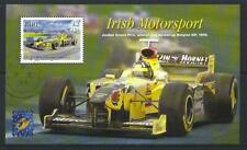 IRELAND 2001 IRISH MOTORSPORT MINIATURE SHEET BELGICA  OVERPRINT  FINE USED