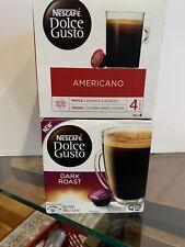 Nescafe Dolce Gusto 4 Boxes. 3 americano, 1 dark roast New