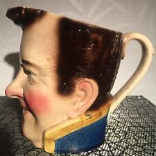 Sarreguemines Majolica Barbotine Face Pitcher 3320 The Admiral