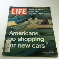 VTG Life Magazine October 8 1971 - U.S. Economy / Shopping New Cars