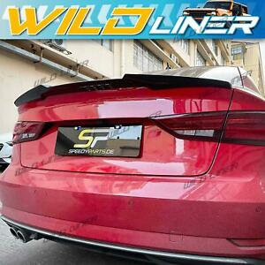 Glossy Black Rear Trunk Lid Spoiler Wing Lip Fit for Audi A3 S3 RS Sedan 14-2020