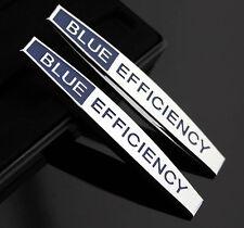 2pcs 3D Metall Auto Schriftzug Aufkleber Emblem für Schutzblech BLUE EFFICIENCY
