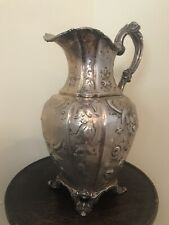 19th Century AMERICAN COIN SILVER PITCHER Platt & Brothers, New York, circa 1855