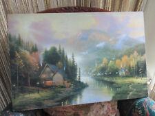 "Thomas Kinkade Limited Edition On Canvas "" Simplier Times"" 18 X 27"" No Frame"