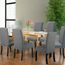 Dining Chair Stretch Slipcovers By Northern Brothers Gray Jacquard 4 Pack. NEW.