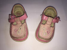 Childrens Girls Clarks First Shoes Size 3 1/2 H SB1