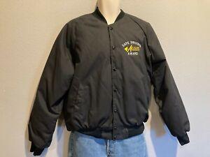 Men's HARTWELL SPORTS Arrow Trucking Co Tulsa OK Black Bomber Jacket USA Made M