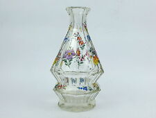 Unusual Glass Carafe about 1900 Josephine Glassworks Elaborate Stained Glass