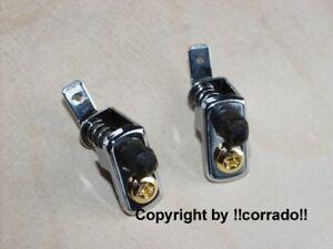 >verchromt< Türkontakt-Schalter Golf 2/1,Corrado >vergoldet< chrom+gold Bi-Color