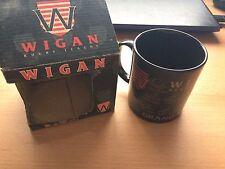 Vintage Wigan Rugby League RLFC (guerreros) Taza-Grand slam 1995-Firmado-Nuevo