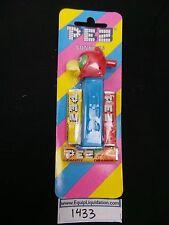MMM Parrot Pez on Blue Stem Mint on Striped Card