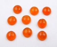 20.00 Cts 10 Pcs Natural Red Onyx Round Cab Lot Loose Gemstone Size 8 MM H-3092