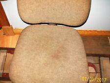 Vintage Upholstered Cashoned Office Swivel Rolling Desk Chair Mid Century