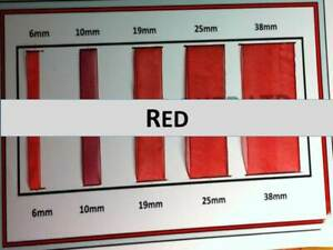 Quality Red Colour Organza Ribbon 6, 10, 19,25, 38mm Width, Various Lengths