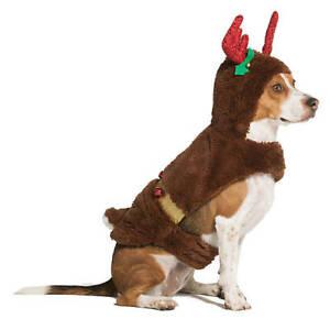 LARGE DOG REINDEER COSTUME SANTA CHRISTIMAS OUTFIT WARM COZY - XXL FUR NWT