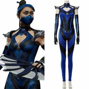 Game Mortal Kombat 11 Kitana Cosplay Costume Outfit Female Full Set