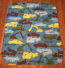 CONSTRUCTION TRUCKS print Kids or Baby size Fleece Blanket 32
