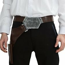 Cosplay Han Solo Costume Men Accessories Belt Holster PU Leather Dress Up Adult