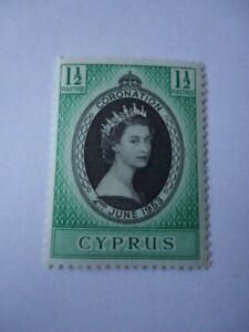 Cyprus QEII 1953 SG172  1 1/2pi Black & Emerald MNH Coronation