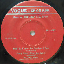 """Peters Sisters - Nobody Knows the Troubles / Every Time / Riverside 7"""" EP RARE"""