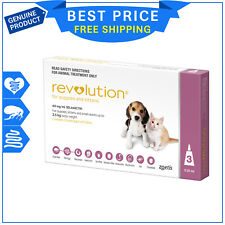 Revolution for Kittens and Puppies Upto 2.5 Kg 3 Pipettes Pink Pack