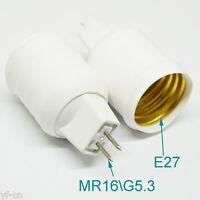 50x G5.3 MR16 Male to E27 Female Socket LED Halogen CFL Light Bulb Lamp Adapter