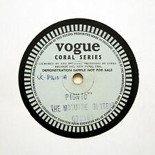 """THE MCGUIRE SISTERS """"Picnic"""" VOGUE CORAL SHELLAC TEST [78 RPM]"""