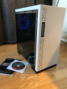 Game Max White mATX Gaming PC Case with Power Supply & Asus A320M motherboard