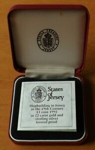 Jersey British Silver £1.00 Coin 1992 Coat Of Arms Proof Grade Cased Rare...