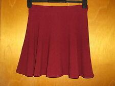 """Atmosphere Textured Short Skater Style Skirt UK 6 L16"""" Aubergine BNWT"""
