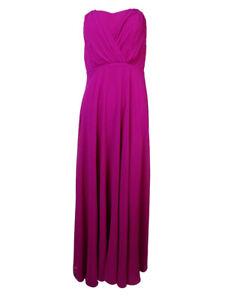 Vera Wang Women's Pleated Empire Chiffon Dress 14, Lavender