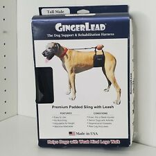 Tall - Male GingerLead Dog Support & Rehabilitation Harnesses Padded USA Leash