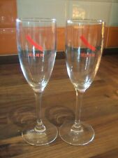 2 x New Tall Mumm Champagne Glasses