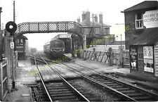 Saxmundham Railway Station Photo. Wickham Market to Darsham and Aldeburgh. (11)