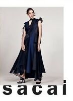 $2005 Sacai Deconstructed Mixed Media Pleated Ruffle Belted Trench Coat Dress 1