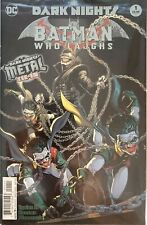 BATMAN WHO LAUGHS 1 1st PRINT FOIL STAMPED COVER NM METAL TIE IN