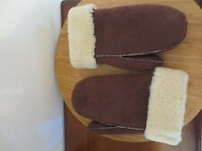 LEATHER WOOL MITTENS GLOVE UNISEX HANDMADE SUEDE LEATHER