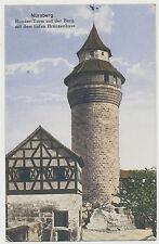 AK Nürnberg - Runder Turm auf der Burg-Feldpost Inf.Regt. Nr.443 (T250)