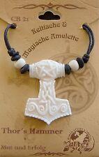 Knochen Thorshammer Anhänger Wikinger Odin Thor Hammer Walhalla Amulett Wotan