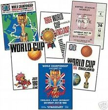 England 1966 6 Card Programme cover Trading Card Set